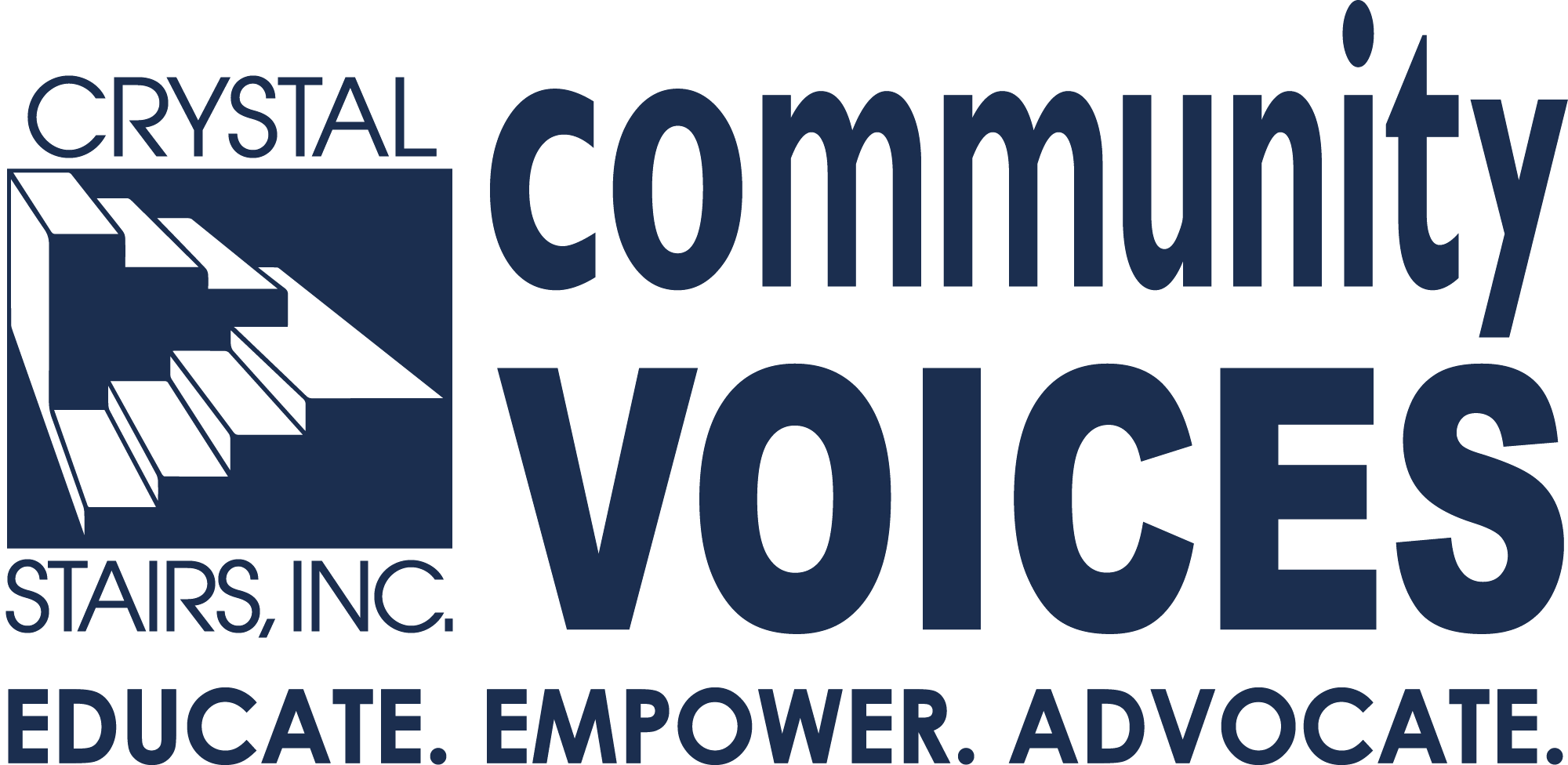 Community Voices Logo Black